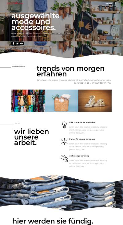 Webseiten Vorlage Boutique Style