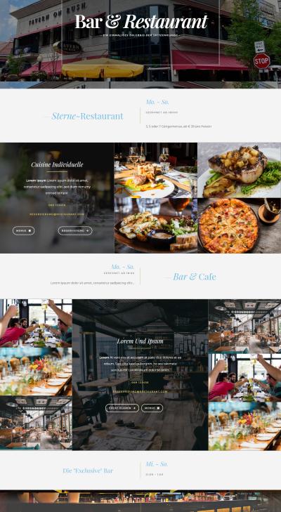Webseiten Vorlage Restaurant Abby