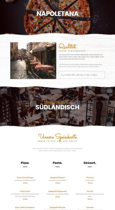 Webseiten Vorlage Restaurant Fresh