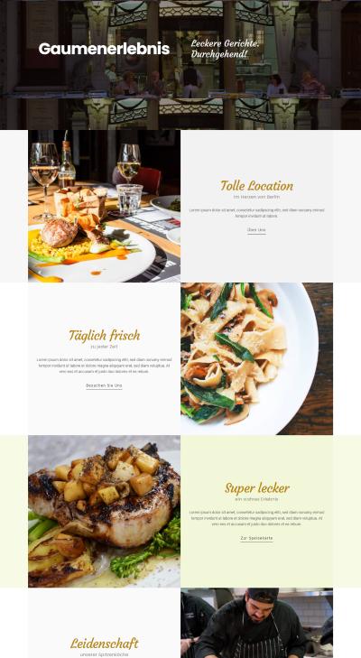 Webseiten Vorlage Restaurant Rainbow