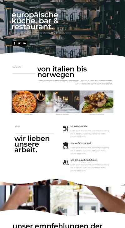 Webseiten Vorlage Restaurant Style