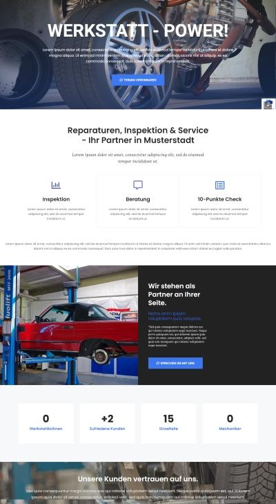 Webseiten Vorlage Auto Service
