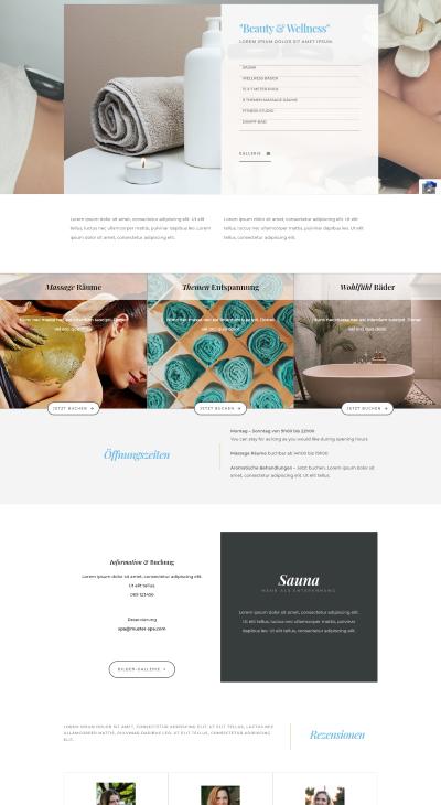 Webseiten Vorlage Beauty Sita