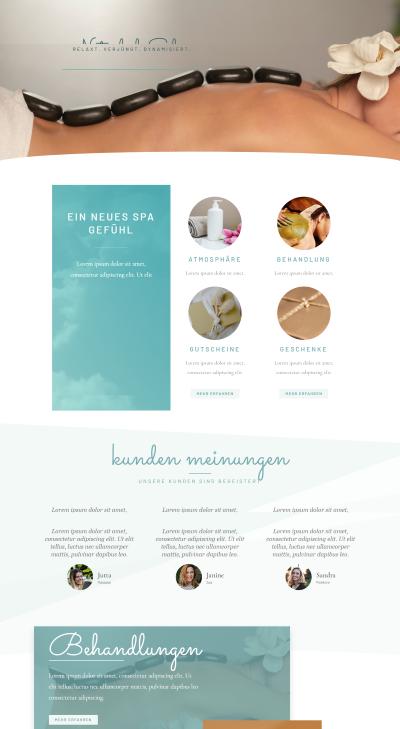 Webseiten Vorlage Beauty Spa